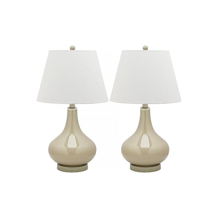 Amy 24 Inch H Gourd Glass Lamp Safavieh Lit4087l Set2 In 2021 Glass Lamp Lamp Glass