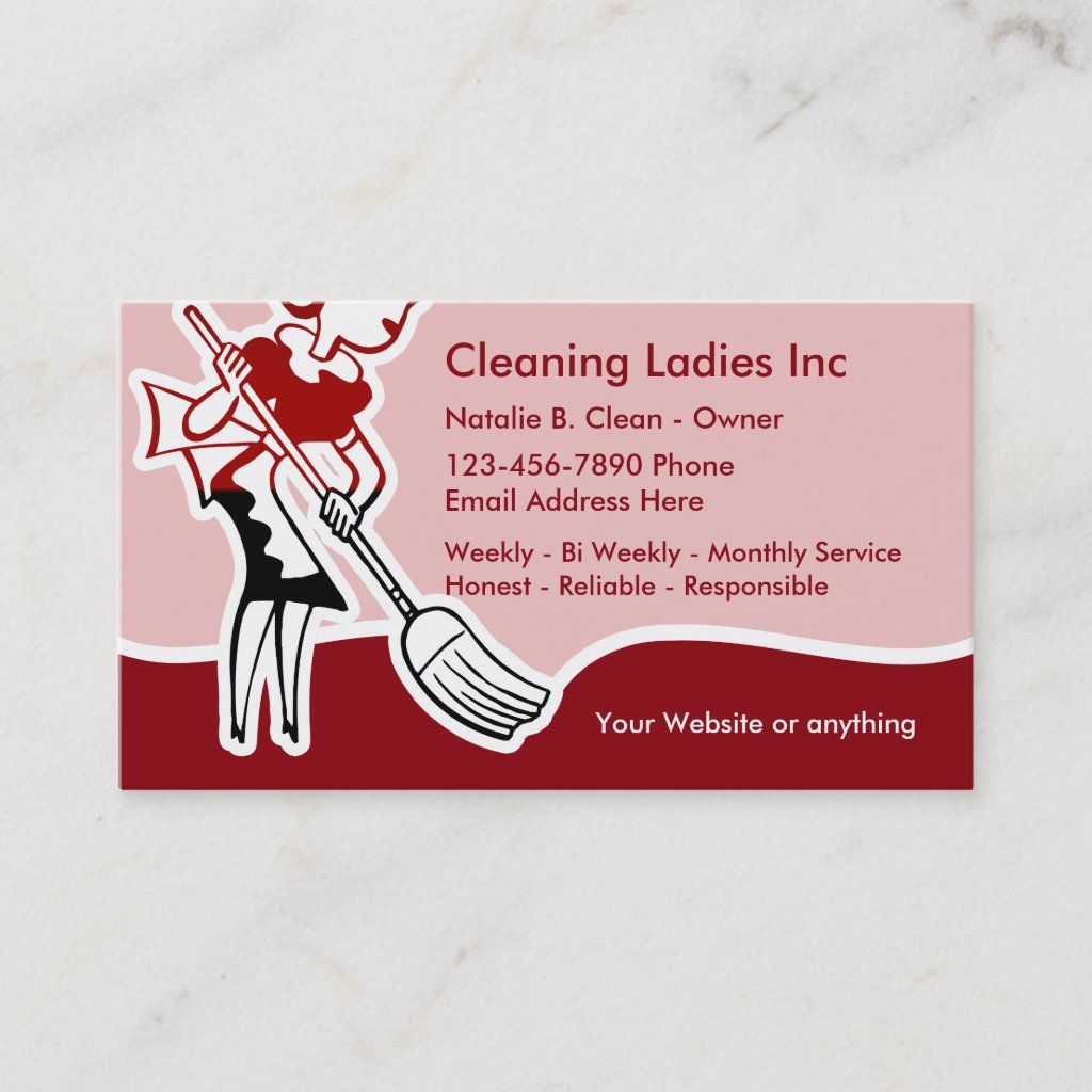 House Cleaning Maid Business Card Zazzle Com In 2021 Cleaning Maid Clean House Housekeeping Business