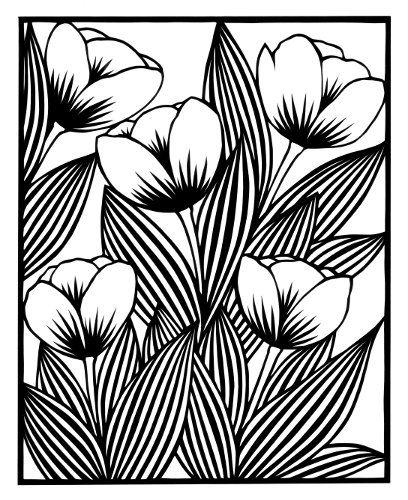 cut paper design Five Tulips