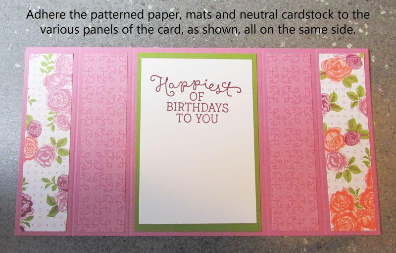 photo tutorial easiest ever bridge fold card stampin up ideas