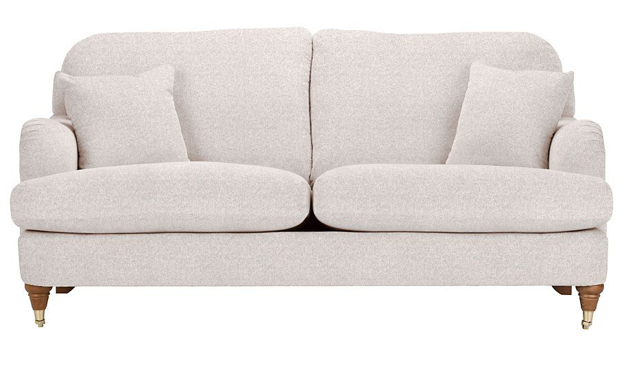 George Home Natalie Large Sofa In Soft Linear, Read