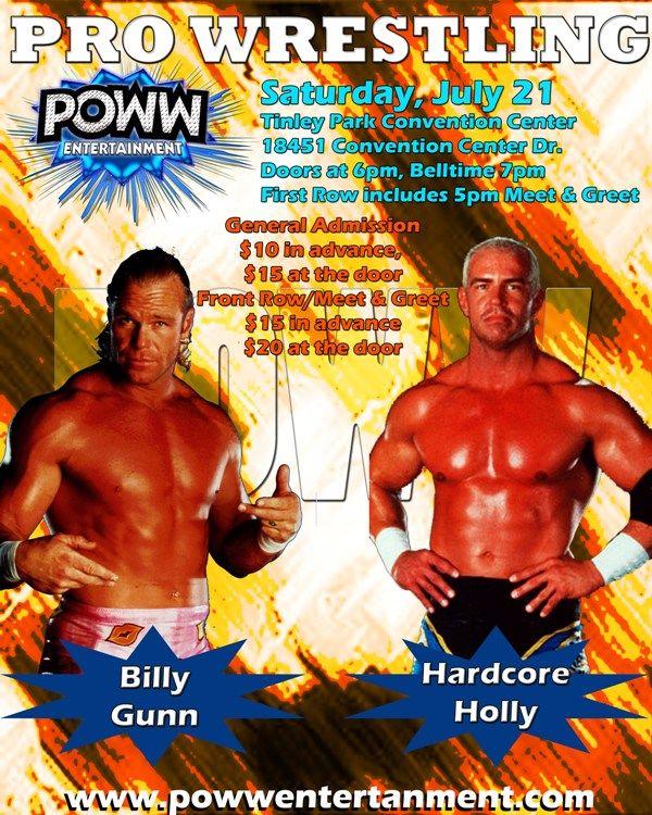 Junly 21 Poww Invades Tinley Park Tinley Park Pro Wrestling Convention Centre