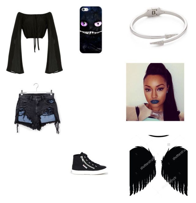 """Dark angel 2"" by spotlightlove on Polyvore featuring Alexander Wang, Superga, Casetify and Rebecca Minkoff"