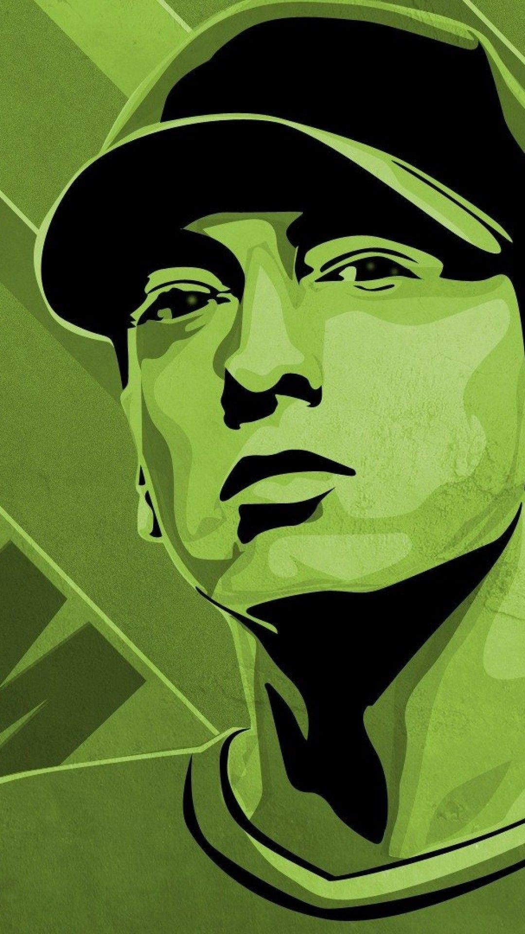 Eminem Illustration Cap Green 4k Hd Android And Iphone Wallpaper Background And Lockscreen Check More At Https Eminem Wallpapers Eminem Iphone Wallpaper Green