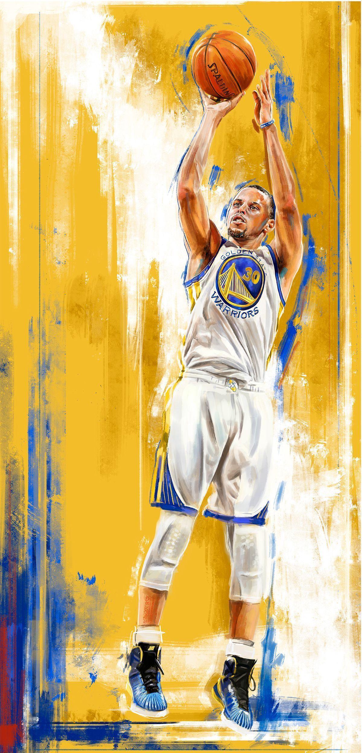 2015 Nba Playoff Player Illustrations Nba 2015 Nba Playoff Player Illustrations On Behance Nba Basketball Art Nba Stephen Curry Nba Pictures