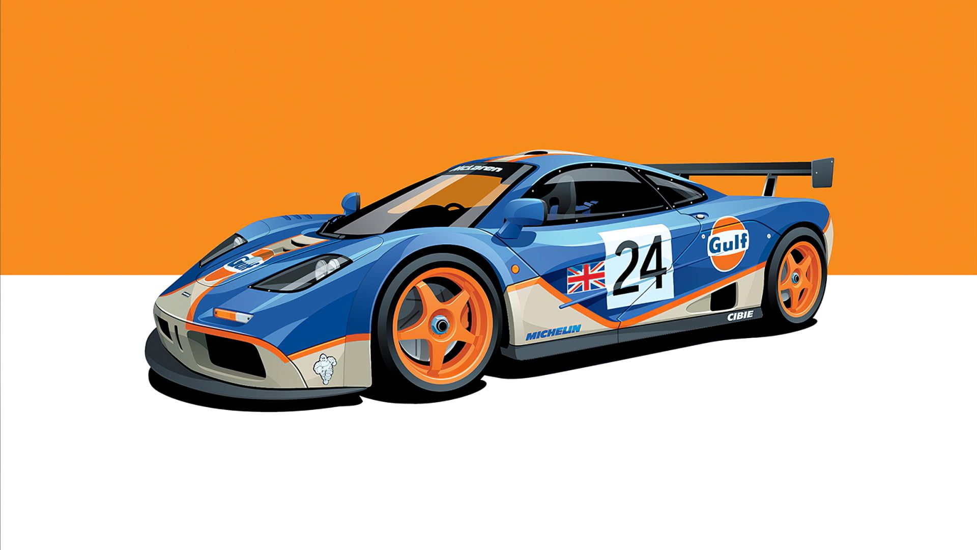 Poster Race Cars Mclaren F1 Gtr Le Mans Gulf 1080p Wallpaper Hdwallpaper Desktop Racing Race Cars Mclaren F1
