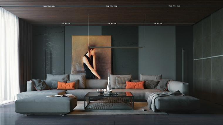 Gemalte schwarze Wände im Wohnzimmer Ideen und Ratschläge Interior