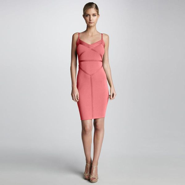 Herve Leger Smooth Bandage Dress Pink  http://www.legerdresssale.com/herve-leger-smooth-bandage-dress-pink-p-9373.html