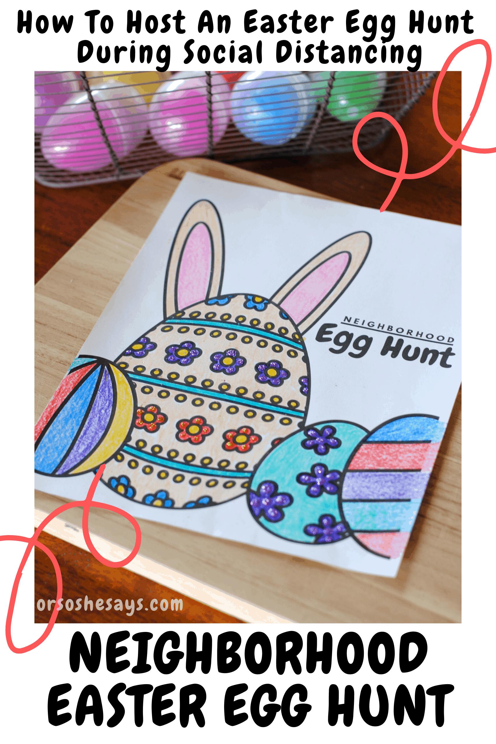 How To Host A Neighborhood Easter Egg Hunt While Social Distancing Easter Egg Hunt Egg Hunt Easter Scavenger Hunt