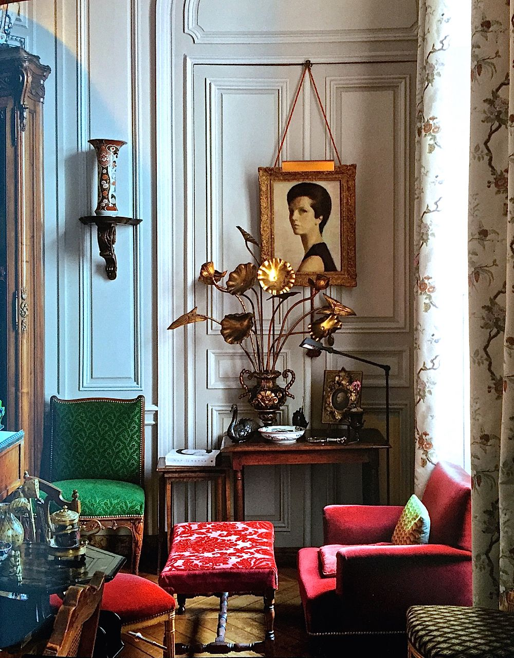 vibrant velvet and gilded accents