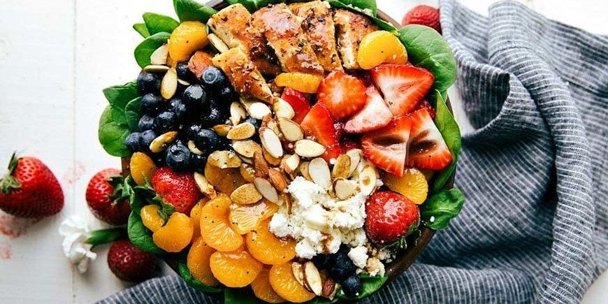The 10 Most Pinned Healthy Salads On Pinterest Chicken Salad Recipes Healthy Recipes Recipes