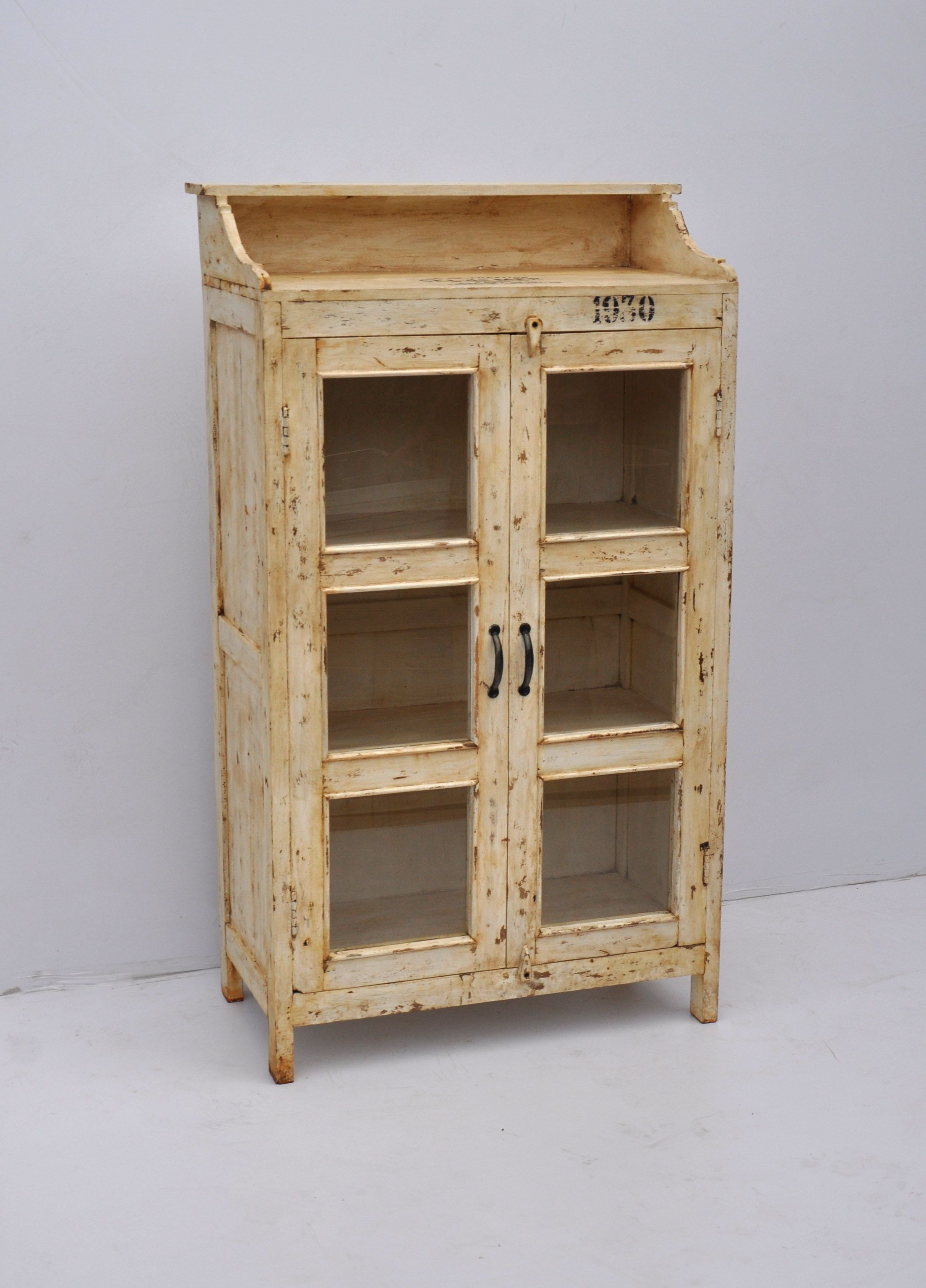 Solid Wood Storage Cabinet With Glass Windows Rustic Wood Furniture Beautiful Furniture Pieces Wood Storage Cabinets Solid wood storage cabinets