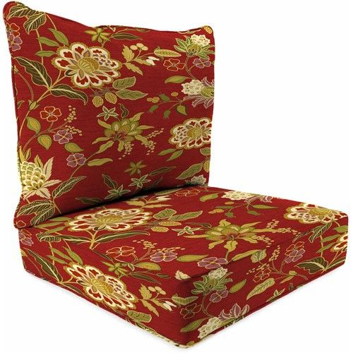 Jordan Manufacturing Outdoor Patio   2 Piece Deep Seat Boxed Chair Cushion  | Jet.com