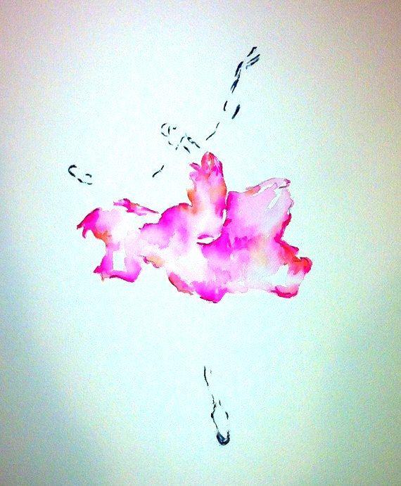 Ballerina, Watercolor Ballet, Ballet, Pink Tutu, Ballet Dancer, Love Ballet, Painting of a Dancer, Dancer Print