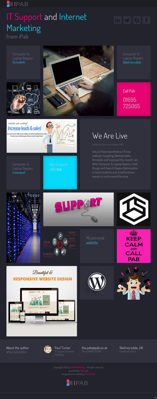 Ipab Co Uk It Support In Skelmersdale Ormskirk And Liverpool Responsive Website Design Website Design Liverpool