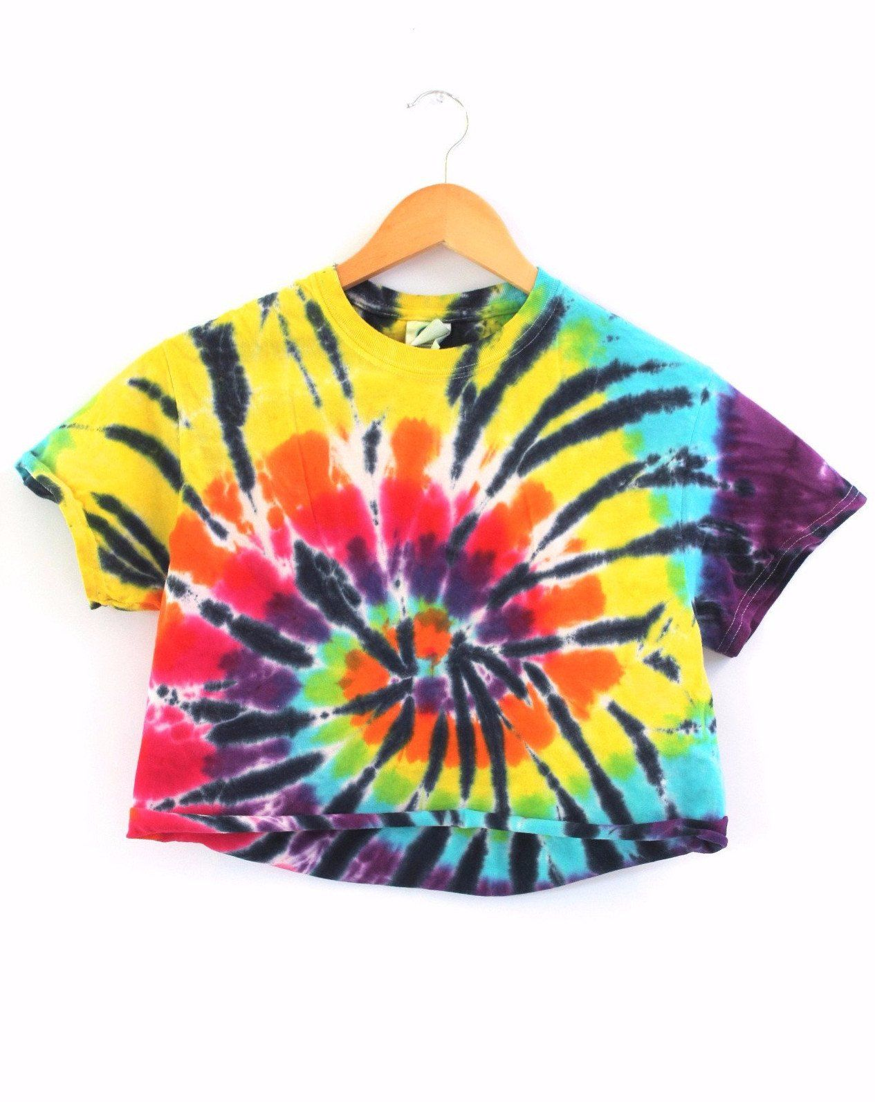89cd5d09fb5 Chameleon Tie-Dye Cropped Tee | clothes/shoes I would wear | Tie Dye ...