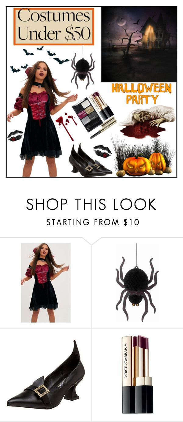 """""""HALLOWEEN COSTUMES"""" by fiorella17 ❤ liked on Polyvore featuring Pleaser, Wet n Wild, Dolce&Gabbana, Trish McEvoy and halloweencostume"""