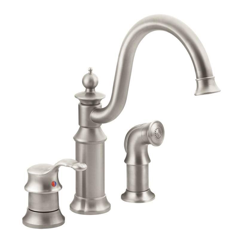 Moen S711   Brushed nickel kitchen faucet, Faucet, Kitchen ...