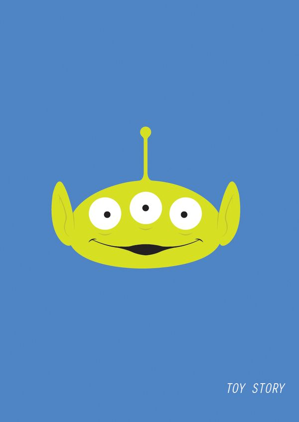 Minimalmovieposters Toy Story Movie Disney Posters Toy Story Alien