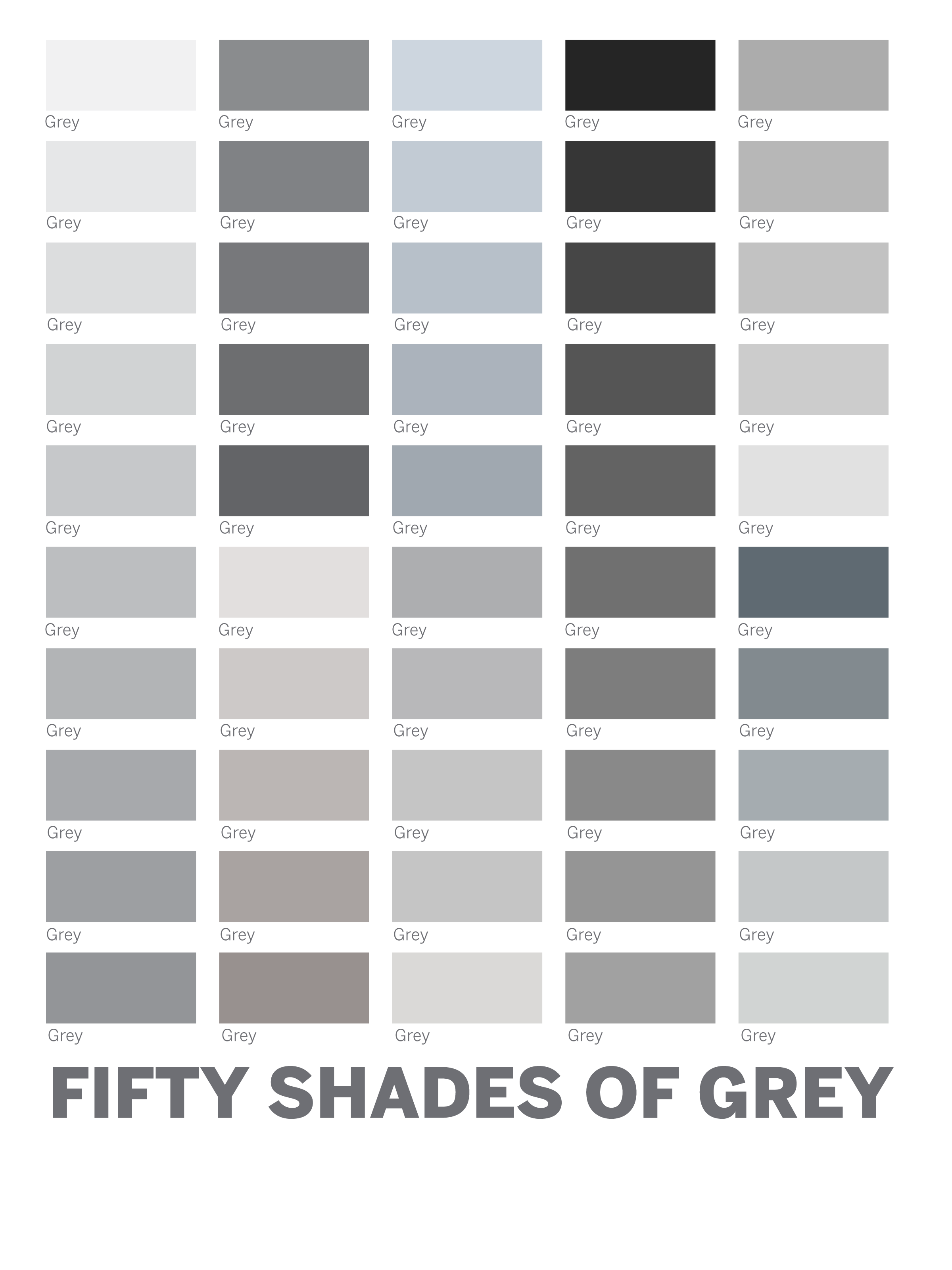 Color gray 50 shades google search perfect paint Different colours of grey paint