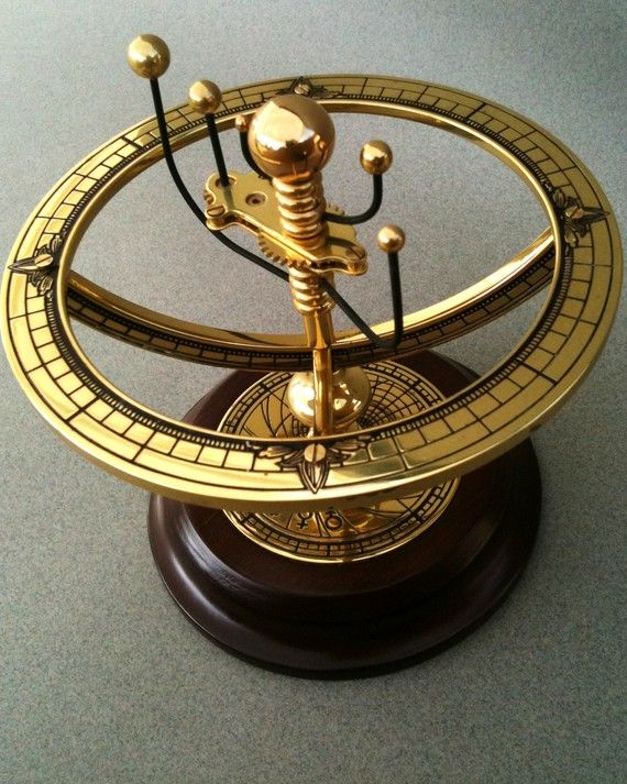 Other Maritime Antiques Nice Kinetic Orrery Solar System Planetarium Model Planets Rotate At Two Speeds