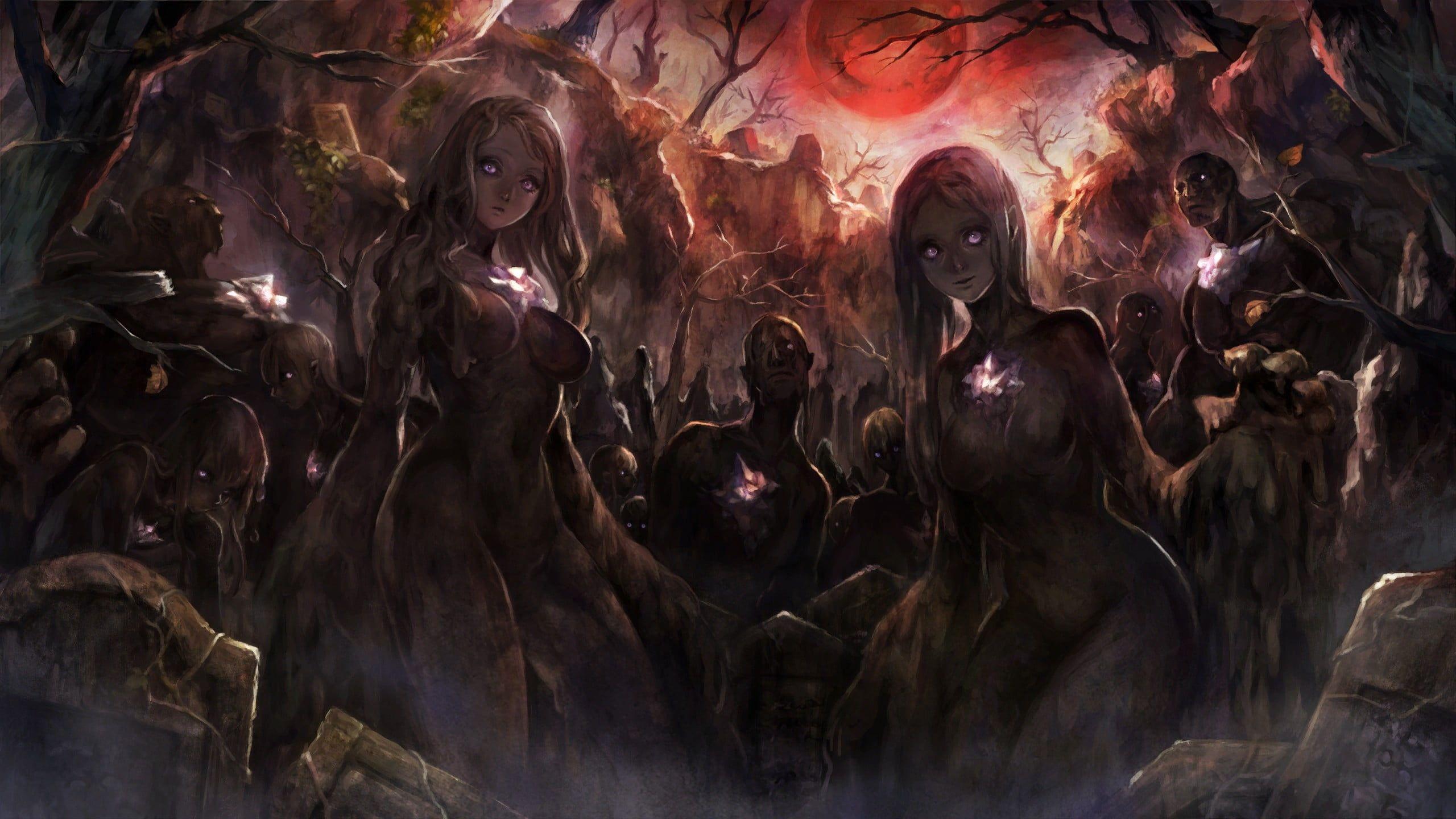 female anime character wallpaper fantasy art artwork