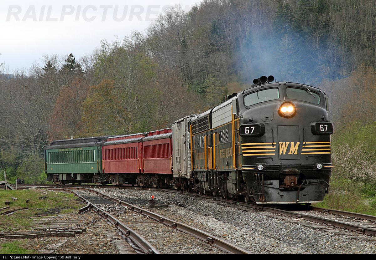 RailPictures.Net Photo: WM 67 West Virginia Central Railroad EMD FP7 at Cheat Bridge, West Virginia by Jeff Terry
