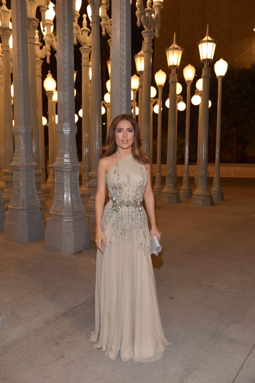 Mila kunis wedding dress  Salma Hayek attend the LACMA  Art  Film Gala  How They Wear It