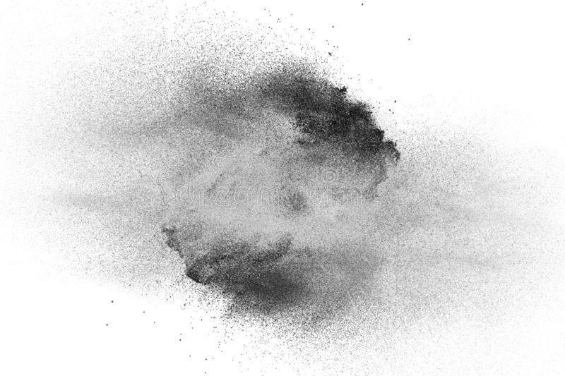 Black Powder Explosion On White Background Black Dust Particles Splashing Royalty Free Stock Image Stock Images Free Image Explosion