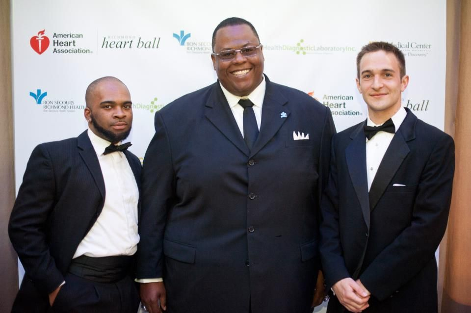 """Mike Armstead (left), Mr. Sylvester Clay and Daniel Ward attend the 2013 Richmond Heart Ball - American Heart Association - Richmond which was held on Saturday, April 27, 2013, at the Science Museum of Virginia. Mr. Sylvester Clay and his company, Team ACP Construction were the """"Friend of Heart"""" sponsors. #RVA #HeartDisease #CardiovascularDisease #FindACure #Richmond #Museum #Charity #Marketing #Sponsor"""