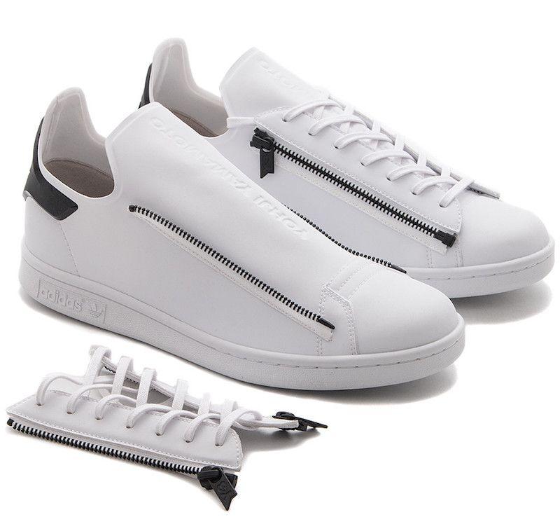 7d611a7b5242f adidas Y-3 Stan Smith Zip Black White