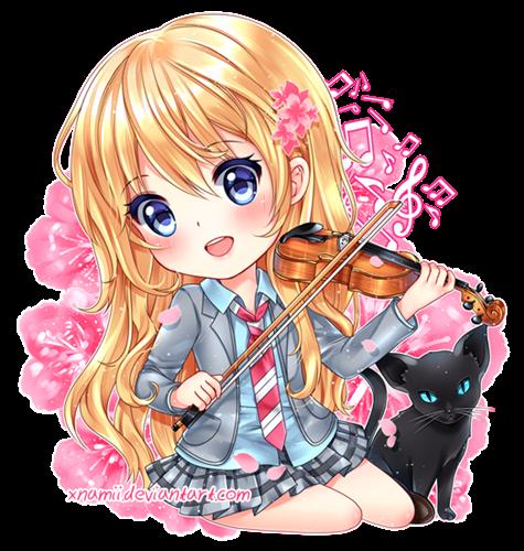 Kaori (Your Lie in April) by xNamii. Source http//xnamii