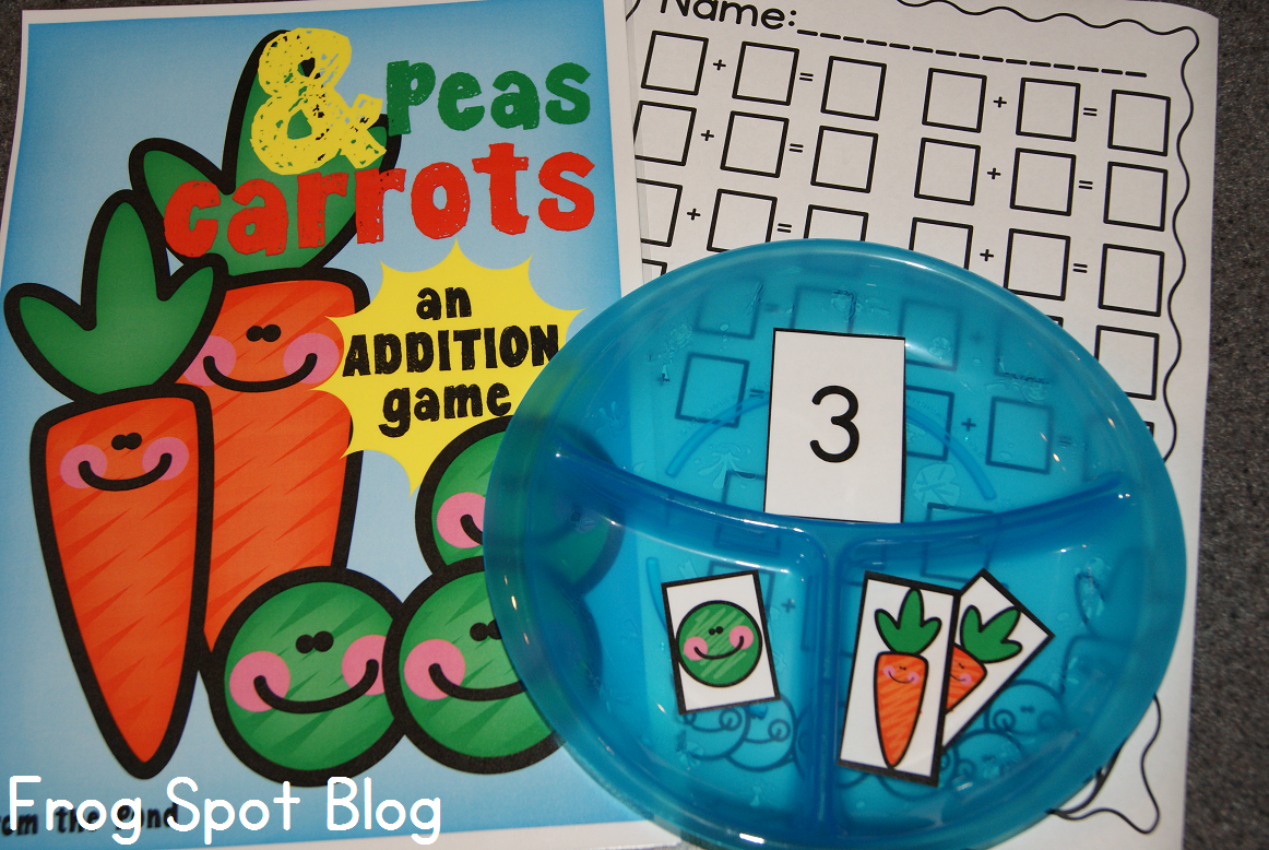 Peas and Carrots - An Addition Game | KindergartenKlub.com ...