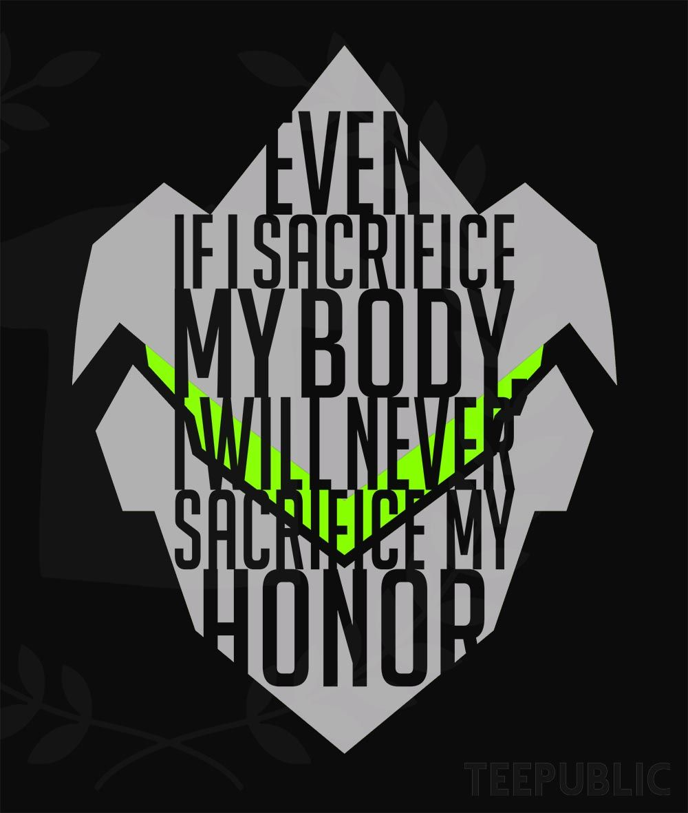Genji Quotes Overwatch Genji  Quote Tshirtroland 92  Overwatch 3