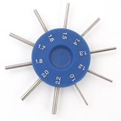 10 Spoke Diameter Hole Gauge 1 00mm To 2 20mm Gauges Diameter Holes