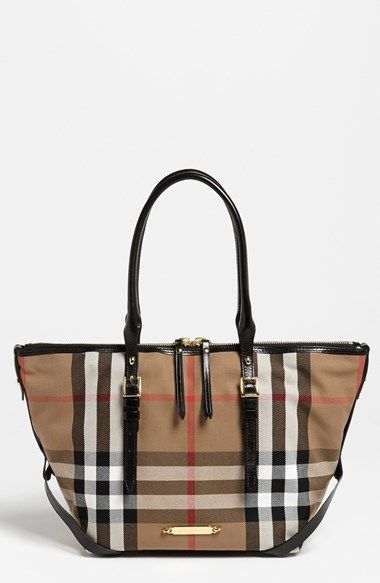 Free shipping and returns on Burberry  House Check – Small  Tote at  Nordstrom.com. Bridle-leather trim lends heritage detailing to a primly  sized tote ... 34833b803f412