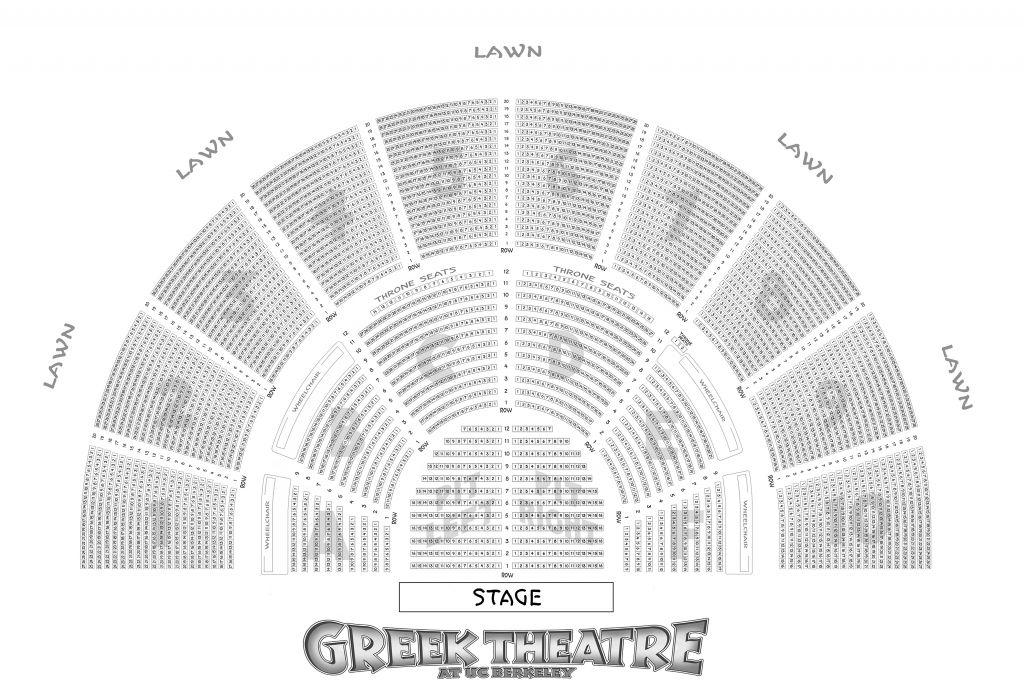 Greek Theater Berkeley Seating Chart Seating Charts Theater Seating Auditorium Seating