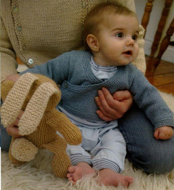 Baby Kimono Knitting Pattern Babytoddler Girl Babytoddler Boy