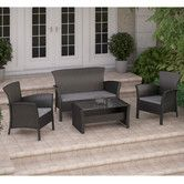 Found it at AllModern - Cascade 4 Piece Lounge Seating Group with Cushion