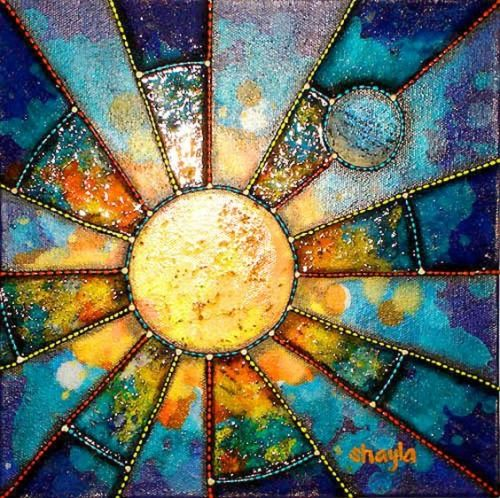Of Clouds And Stars Sun Art Stained Glass Art