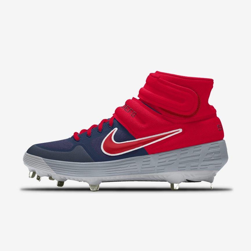 Nike Alpha Huarache Elite 2 Mid By You Custom Baseball Cleat Nike Com Custom Baseball Cleats Nike Huaraches
