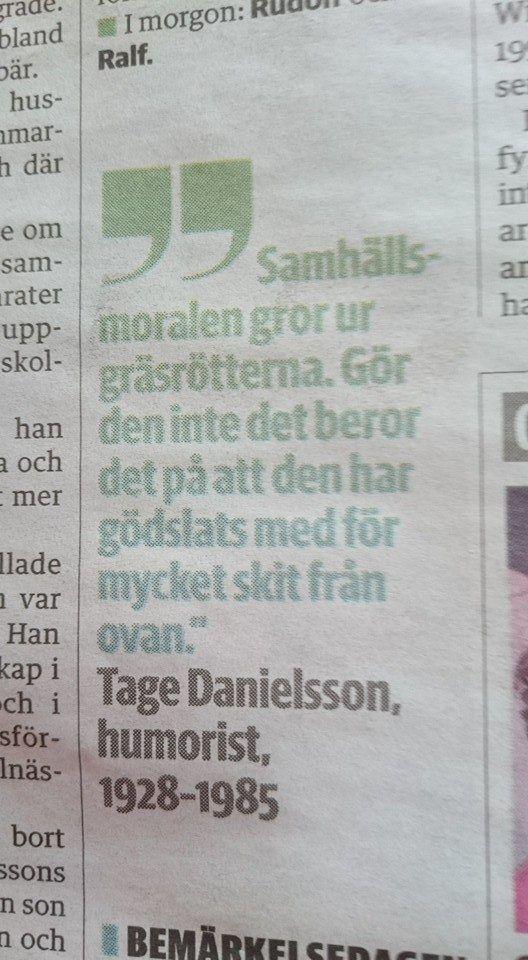 Ghost Tage Danielsson Om Samhallsmoral Citat Dikter Moral