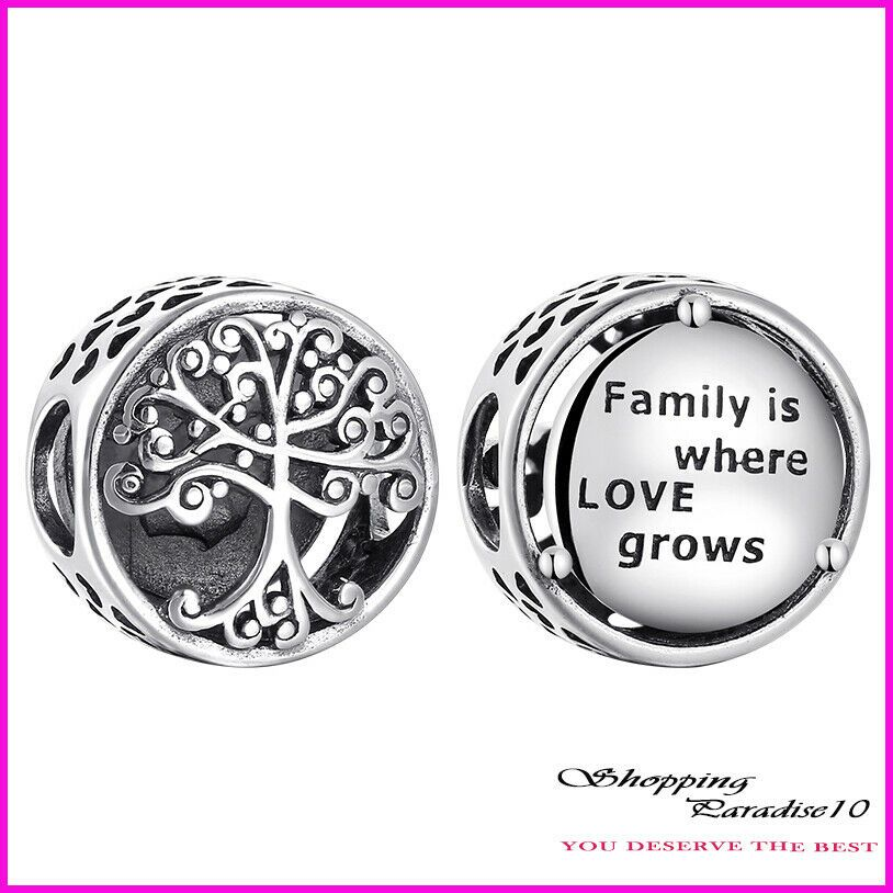 New Authentic Pandora Family Is Where Love Grows Charm Sterling Silver Unbranded Charm Pandora Family New Pandora Charms Charm Bracelet Gift