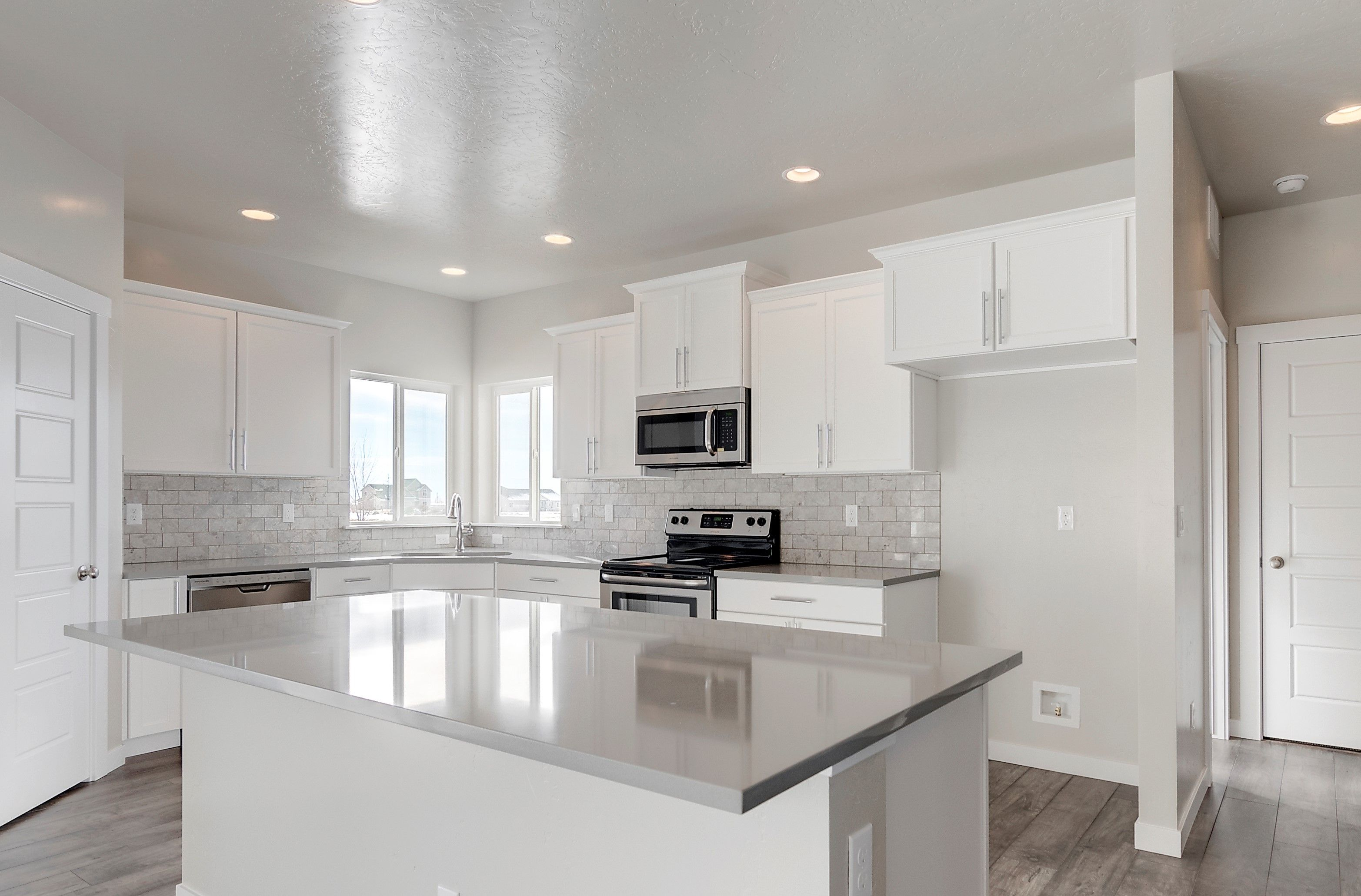 White cabinets, white cabinets, and WHITE CABINETS! What more do you ...