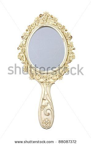Vintage Hand Mirror Isolated On White Stock Photo Hand Mirror Mirror Stock Photos