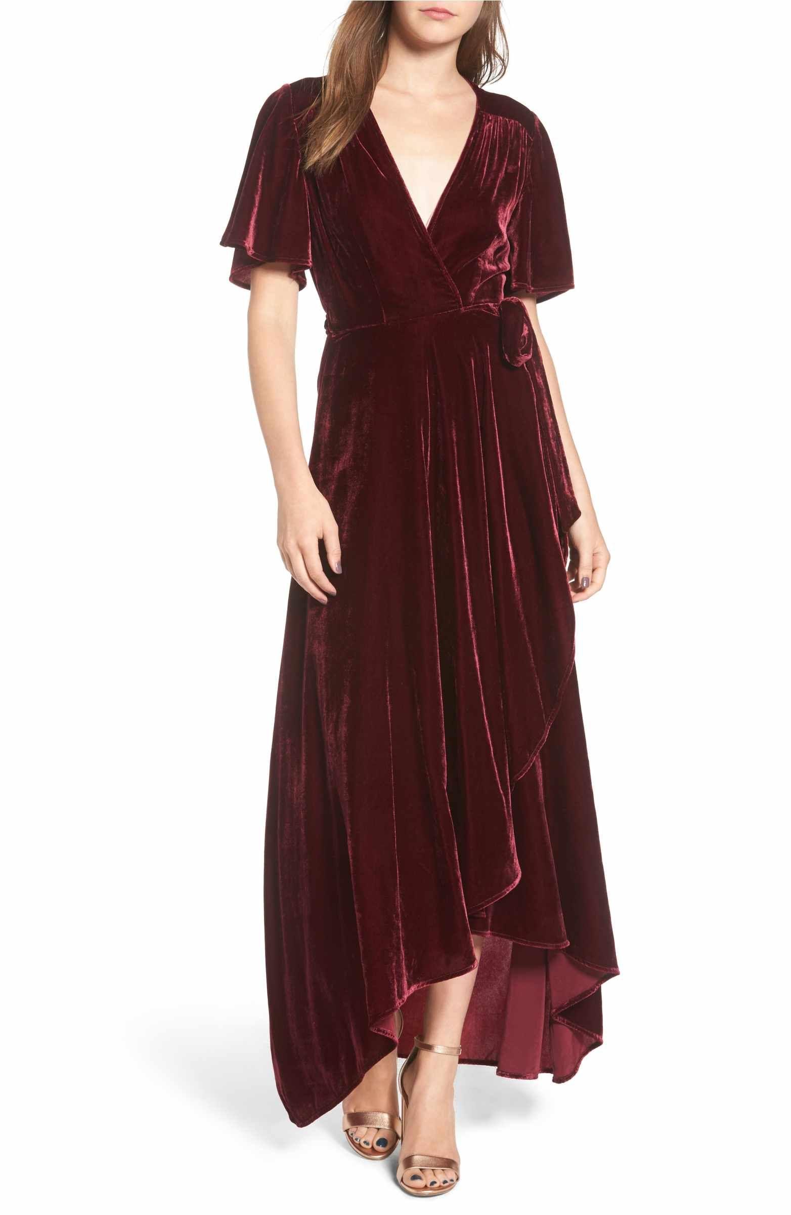 52c7c3bd7f Main Image - Privacy Please Velvet Wrap Maxi Dress