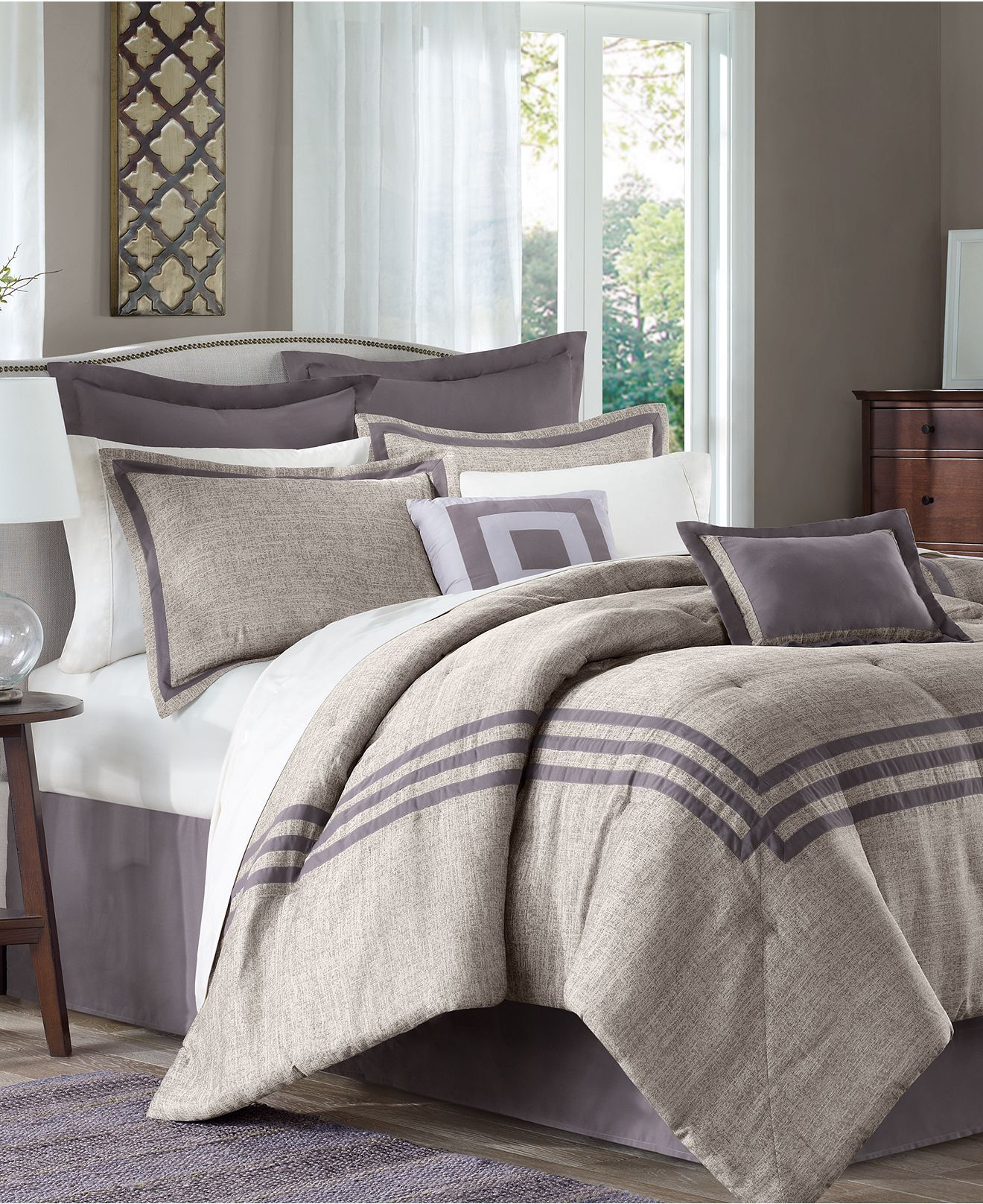 Affinia 8 Piece Jacquard Comforter Sets - Bed in a Bag ...