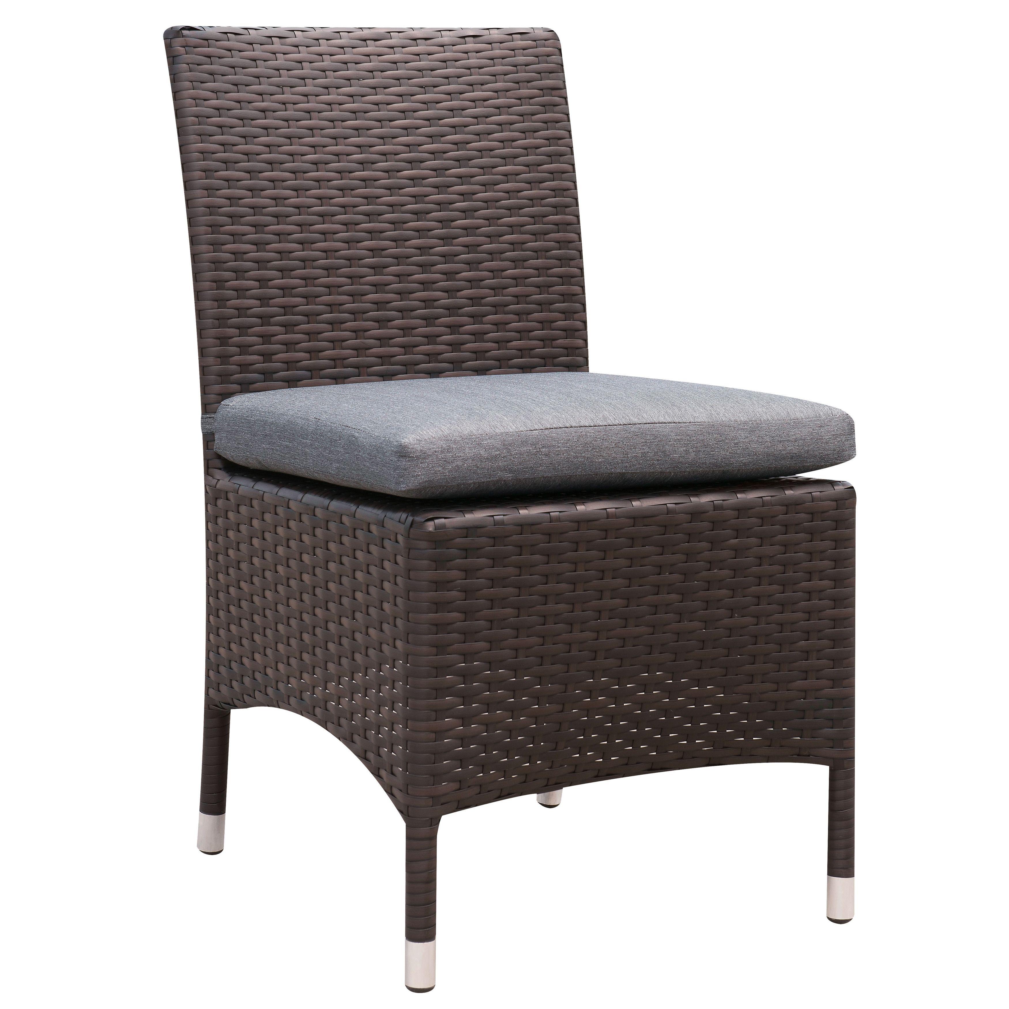 Furniture Of America Mianne Espresso Wicker Inspired Patio Chair