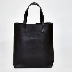 CLEMMIE TOTE BAG | Black leather. £95