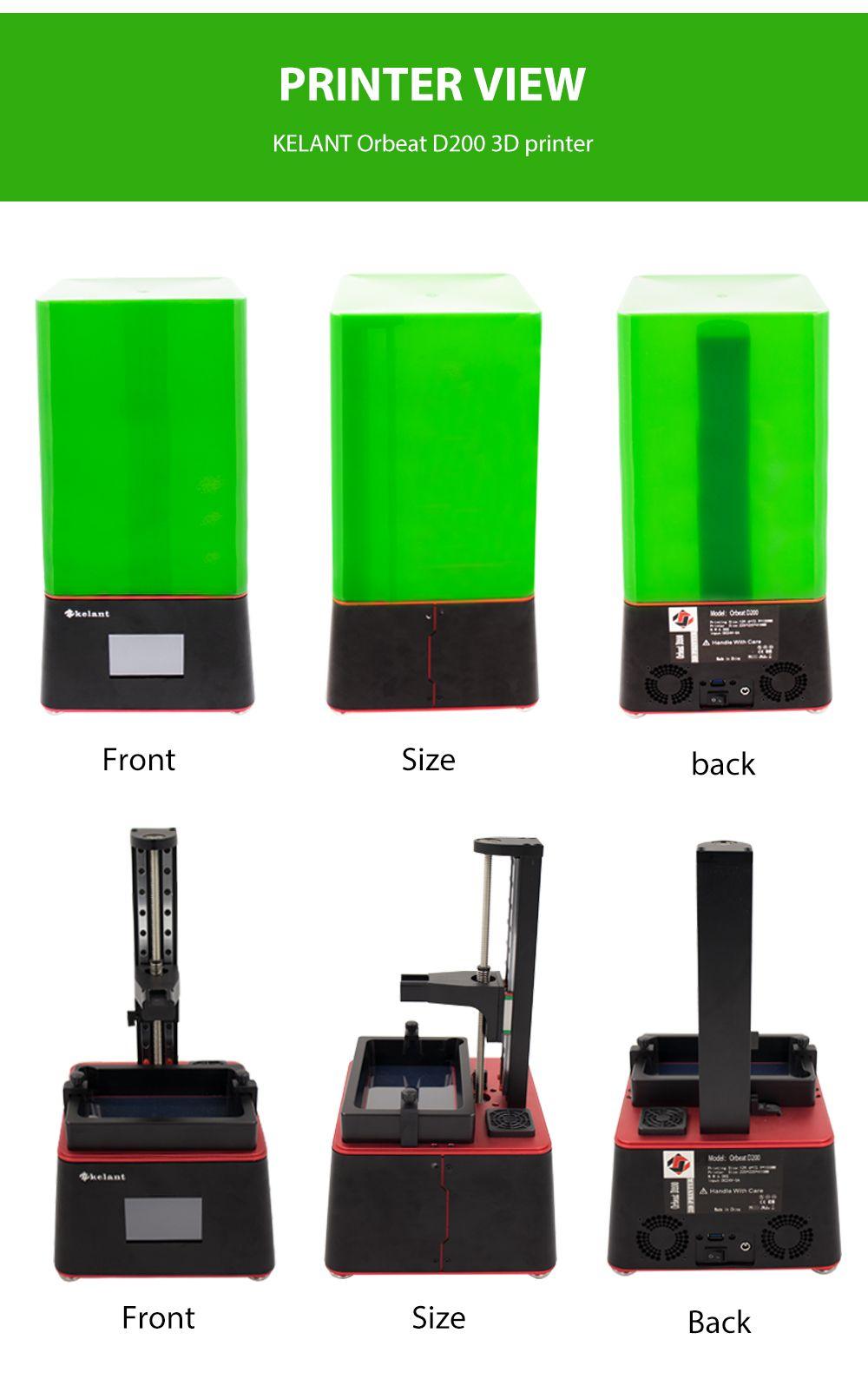 KELANT® D200 405nm UV Resin LCD 3D Printer Support Off-line